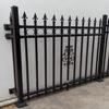 Manufacturer galvanized black powder coated steel aluminum fence