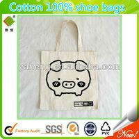 cotton 100% drawstring shoe bag