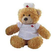 factory direct nurse teddy bear,stuffed&plush toy animal