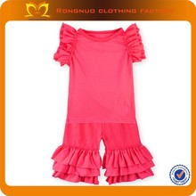 Children clothes Spring & Summer baby girls cotton clothing set Wholesale Boutique colorful clothing