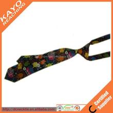 2015 new colorful printed silk kids tie
