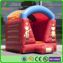 Inflatable moonwalk small fire truck theme baby mini inflatable bouncer best sale