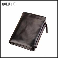2015 New design black color japanese leather wallet