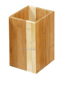 Two color bamboo holder for kitchen dinnerware
