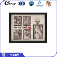 """Wholesale new design multi open plastic shadow box photo frame in 11*14"""" size with silkcreen on glass"""