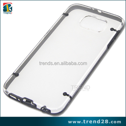 alibaba china clear plastic PC hard case for samsung galaxy S6
