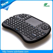 wireless keyboard air mouse bluetooth mini keyboard with touchpad remote for tv
