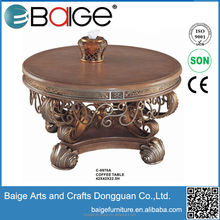 C-0970A european style antique gold coffee table european classical coffee table