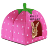 2015 Hot Selling Cat Dog Puppy Pet Warm Strawberry Bed House Tent For Winter POLAR RABBIT PYRAMID HUT KENNEL M Sizes