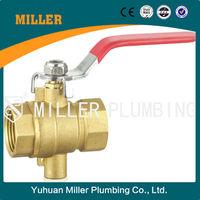 ML-2030 Temperature-testing Brass ball valve with inside screw