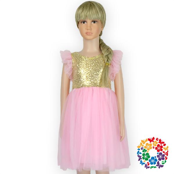 Latest Design Kids Baby Girl Fashion Dress Gold And Pink Dress ...