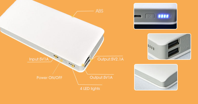 2015 new rohs portable power bank,smart power bank 10000mah for consumer electronic