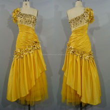 Gd3135 gorgeous un hombro plisado cenicienta vestidos para niñas