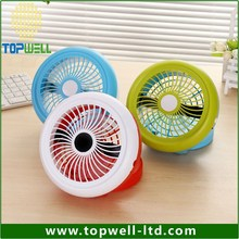 CE&ROHS strong wind quiet private mould battery and DC plug mini USB fan