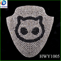 Glass Crystal Material Hot Fix Glass Rhinestone Sheet
