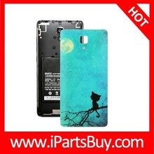 Cat Pattern Back Cover Replacement for Xiaomi MI4 mobile phone spare parts