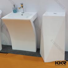 Kkr artificial acrílico pedra único branco pedestal de pedra