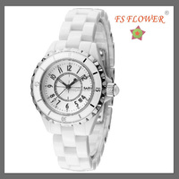FS FLOWER - Always Hot Selling Custom Logo Ceramic Lady Watches With Japan Movt Quartz Stainless Steel Back