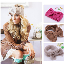 Fashion Crochet Headband Knited Headwrap Bow wool Hiar Bands new style Hair Accessories for Women/