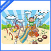 Cartoon Painting learning paper jigsaw puzzles toy