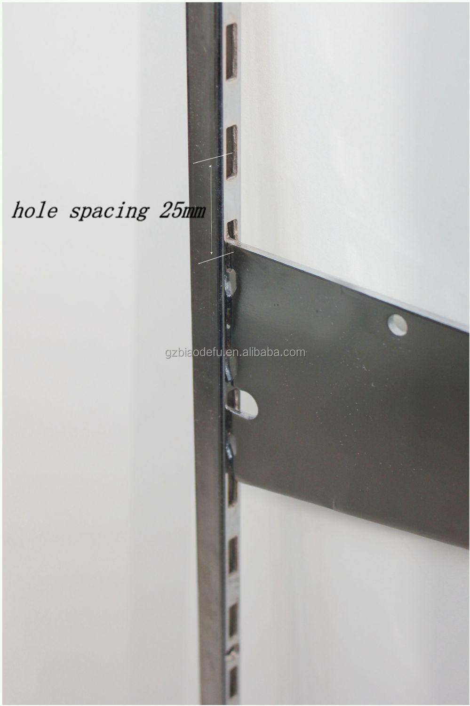 Montant paroi m tallique montage lat ral support d 39 tag re support id de - Montant etagere metal ...