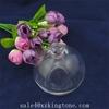110 ml ball shape crystal white perfume glass bottle/face cream jars