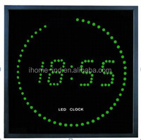 thermometer wall led clocks promotional electronic wall calendar clock