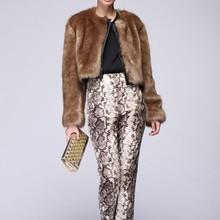 Fashion women jacket winter fox rabbit fur coat mink coat mink fur coat