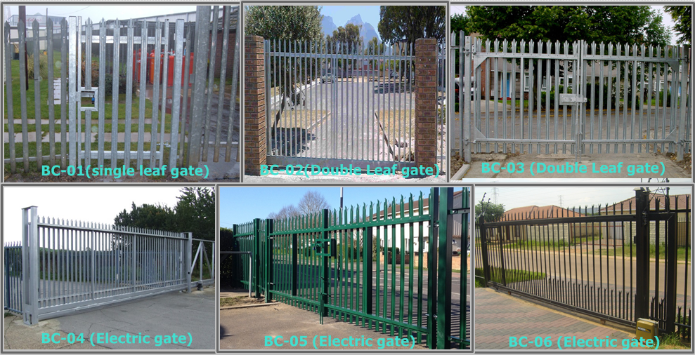 Triple pointed and splayed steel palisade fence and gate 2.png