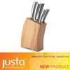 5pcs silvery hollow stainless steel kitchen knife