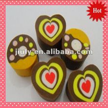 2014 HOT&NEW LOVELY HEART ERASER FOR GIFT