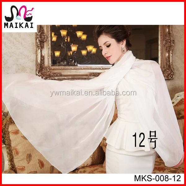 wholesale fashion plain white silk scarf for painting