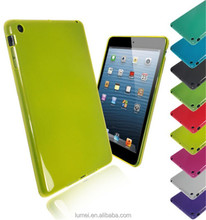 New Plain Solid Transparent Glossy Silicone TPU Gel Case Cover For iPad Mini