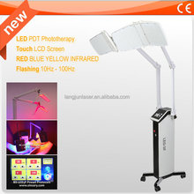 Two arms LED light photo therapy equipment for acne treatment