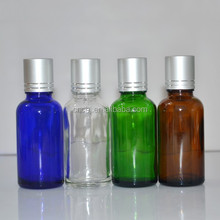 50ml aluminium caps for glass bottles/50ml glass cosmetics bottles packaging/50ml glass screw top bottle