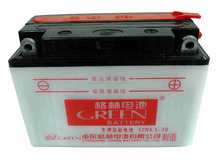 Green brand light and thin active lead plate motorcycle battery can be stored for one year