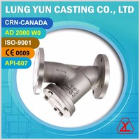 Cast stainless steel class 150 Y filter mesh Y-strainer valves