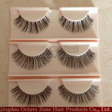 Wholesale High Quality Strip False Eyelashes 100% Human Hair Eyelash Red Cherry