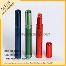 Best selling 6ml pen shaped aluminum perfume spray bottle fragrance mist aluminum atomizer bottle for perfume