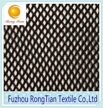 Wholesale 100 polyester black warp knitting 80gsm diamond lining net fabric