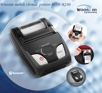 Woosim portable mobile thermal 58mm receipt printer WSP-R240 for Ipad and Android