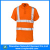 Wholesale high visibility reflective short sleeve cheap hi vis dry fit polo