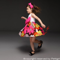 Fashion Girls Flower Dresses Big Butterfly Bow Baby Lace Dress Kids Clothing For 2-6 Years GD40514-3