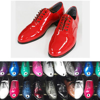 2014 s/s various color party dress mens shoes enamel made in korea