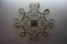 Square Scrolled Decorative Metal Wall Art Medallion Decor