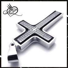 Plating black Laser Bible Stainless Steel Cross Pendant,stainless steel cross pendant,bible scripture pendants