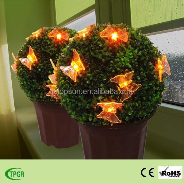 enfeites de jardim solar : a grama bola com luz solar borboleta para enfeites de ...
