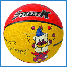 15cm/5inch funny design inflatable mini basketball rubber