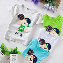 fashion bear printed cartoon kids t-shirt wholesale