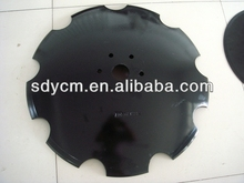 Disc blade with smooth or notched edge for harrow or plow
